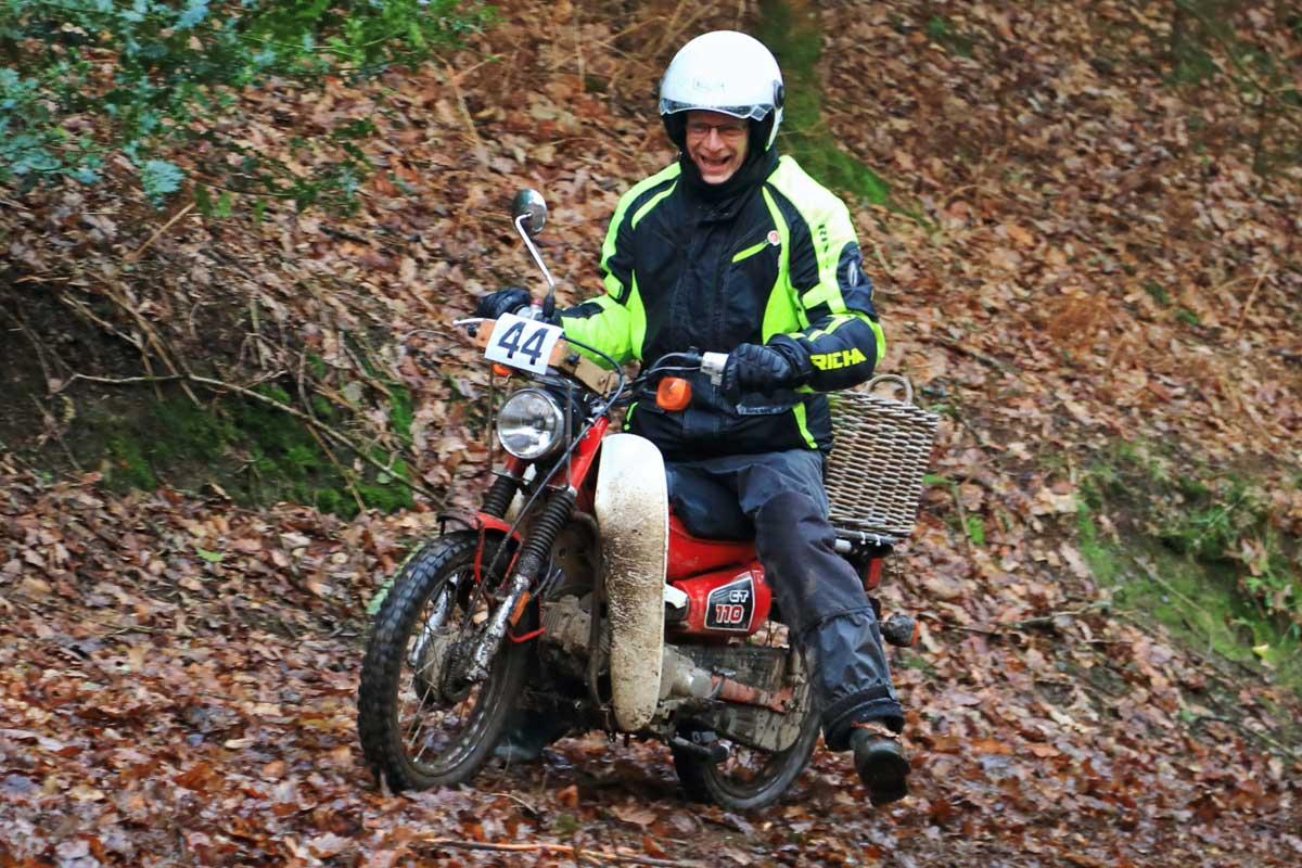 Honda c90, Exeter Trial