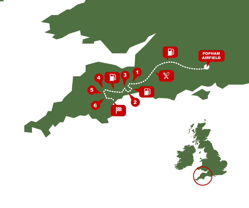 Exeter Trial map