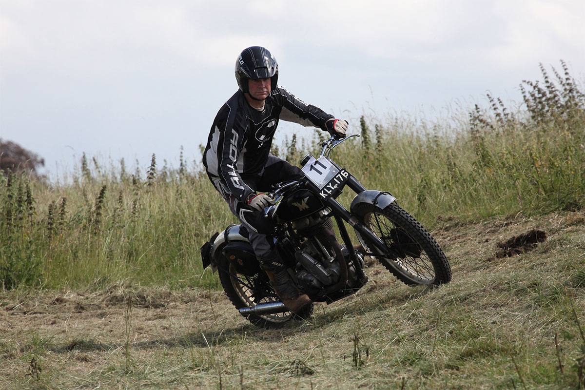 Testing Trial motorcycle